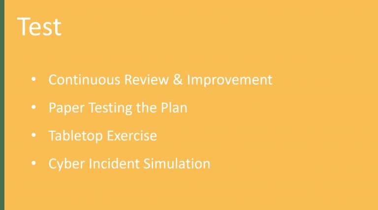IR Test Slide