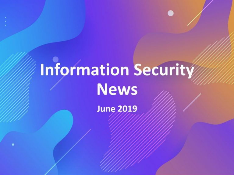Evalian Information Security News June 2019.