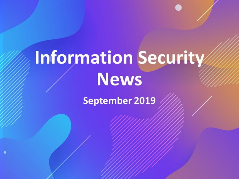 Information Security News Logo September 2019